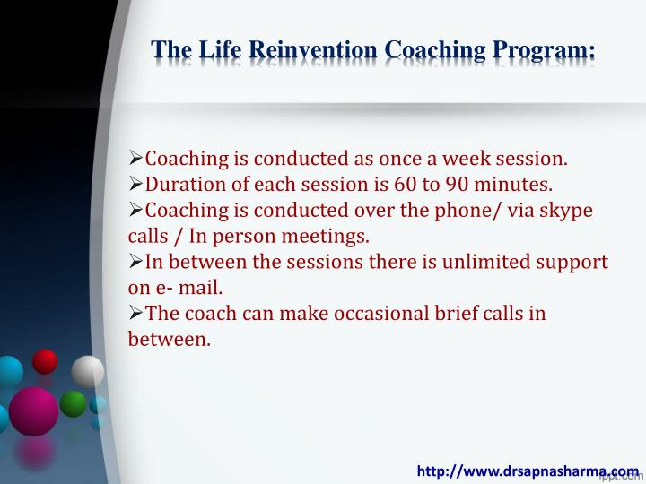 The Life Reinvention Coaching Program: