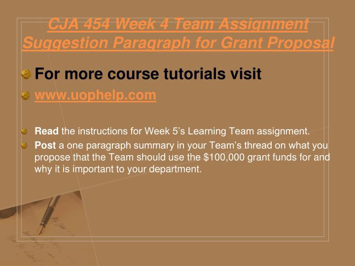 grant proposal and presentation cja 454 College essay writing servicei need a detailed powerpoint presentation on the attached proposal please us the attached proposal for the powerpoint i want pictures in.