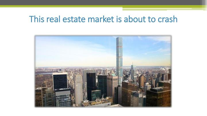 this real estate market is about to crash n.