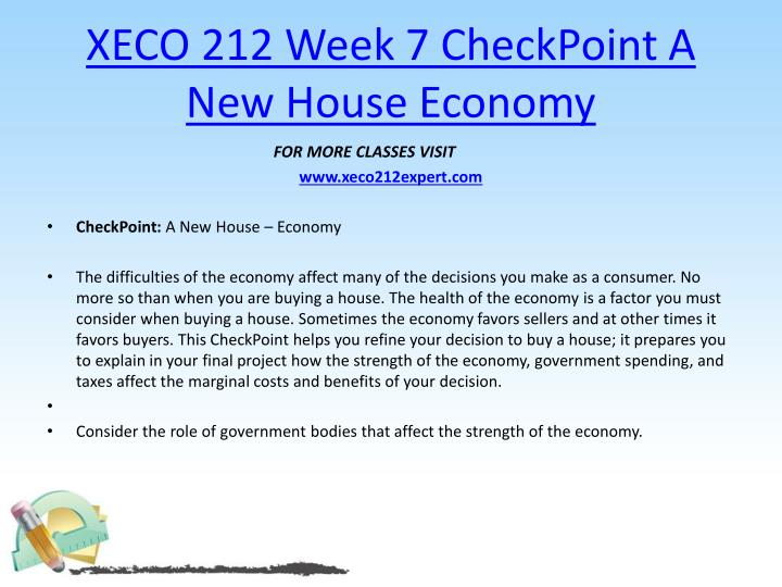 xeco 212 week 6 checkpoint money Checkpoint money nbsp due on before friday of week 6 in your individual forum submit a 250 to 300 word response addressing the.