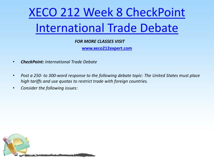 international trade debate part 2 essay International trade debate part 2 harvard case study solution and analysis of reading the harvard case study: to have a complete understanding of the case, one should focus on case reading.