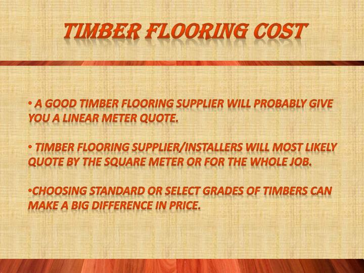 Timber flooring cost