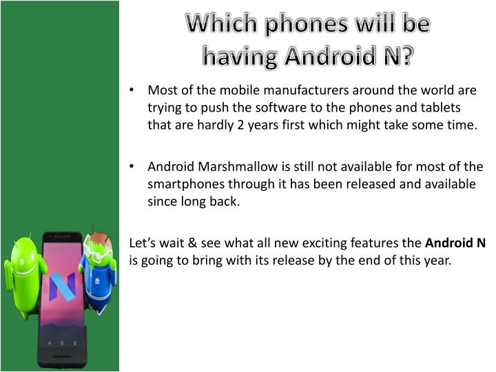 Which phones will be