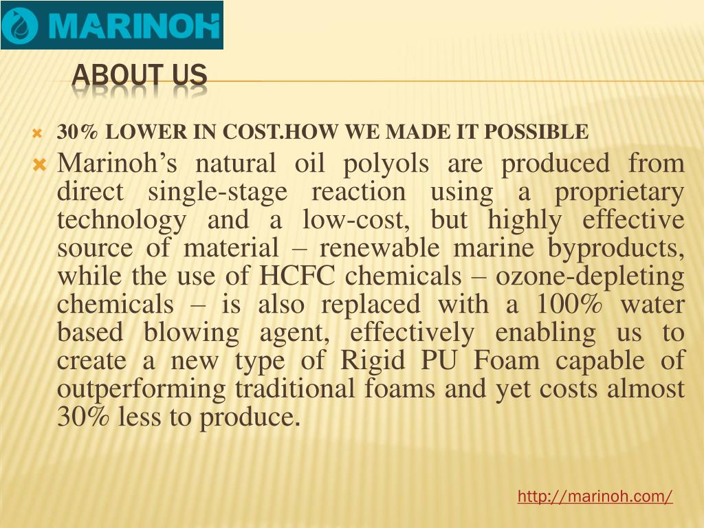 PPT - Hi-tech Low-Cost Bio based polyester by Marinoh com PowerPoint