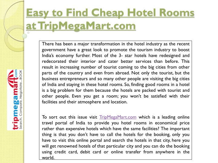 Easy to Find Cheap Hotel Rooms
