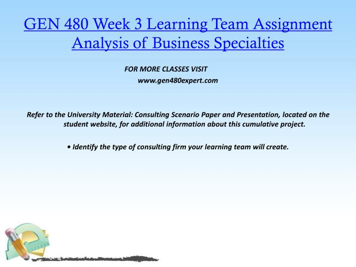 analysis of business specialities gen 480 Hcs 587 week 2 individual assignment theoretical matrix hcs 587 week 2 individual assignment theoretical matrix gen 480 week 3 analysis of business.