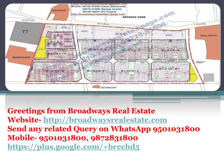 Greetings from Broadways Real Estate