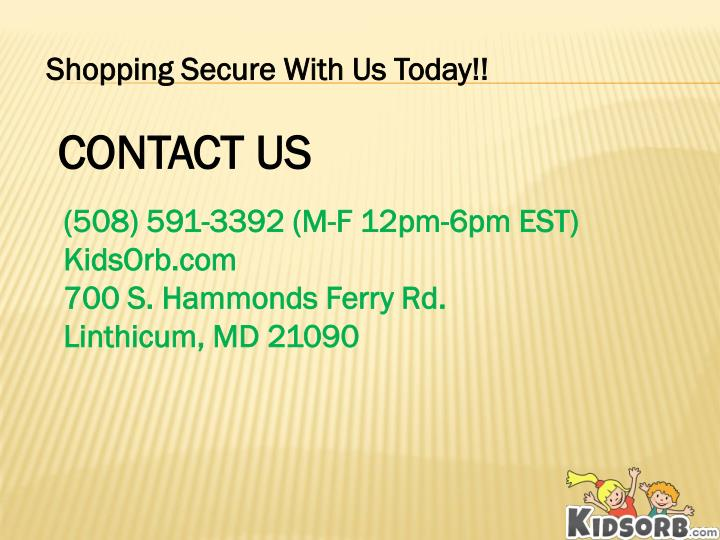 Shopping Secure With Us Today!!