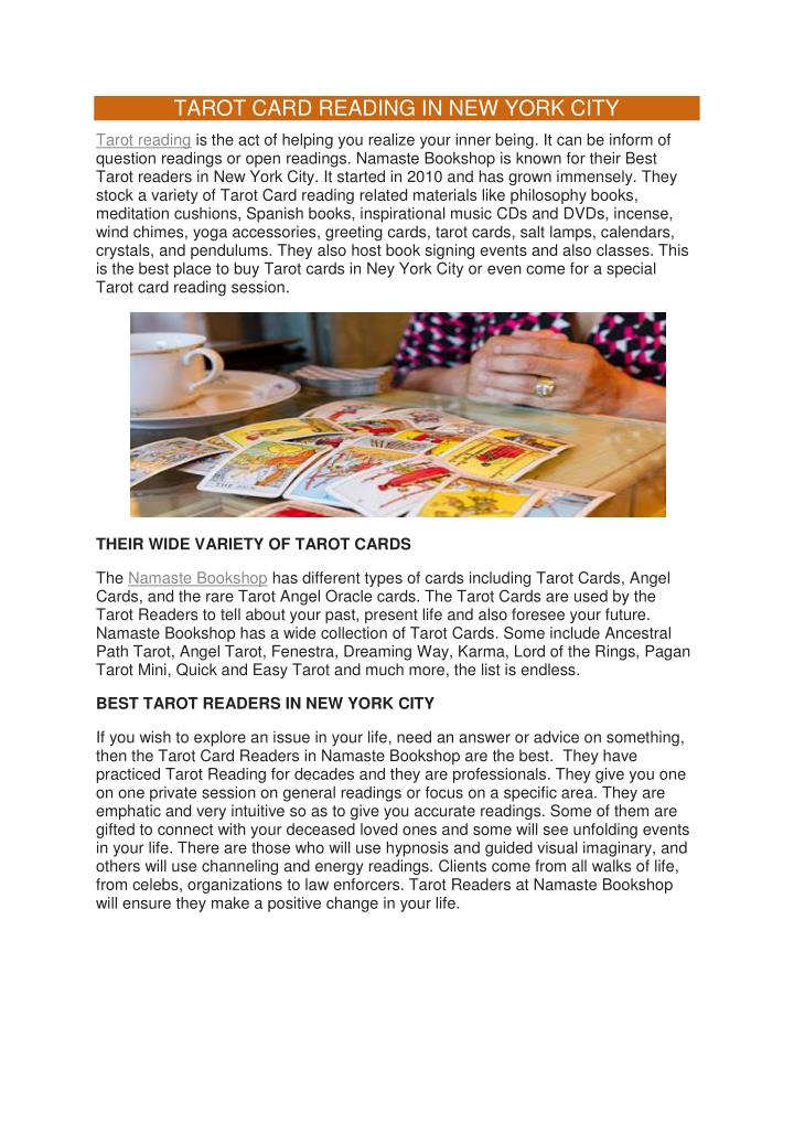 PPT - TAROT CARD READING IN NYC PowerPoint Presentation - ID