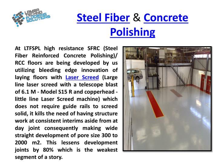 Steel fiber concrete polishing