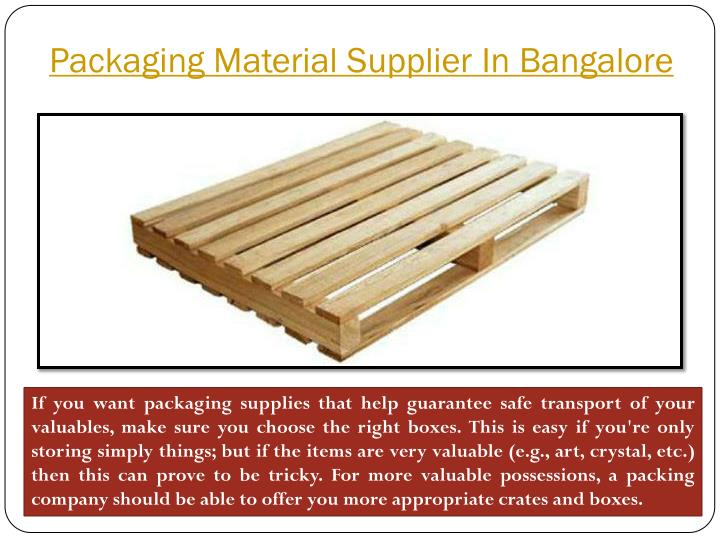 Packaging Material Supplier In Bangalore
