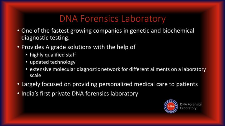 dna forensics We offer an extended range of forensic dna techniques covering all routine and specialist analyses, available on demand.