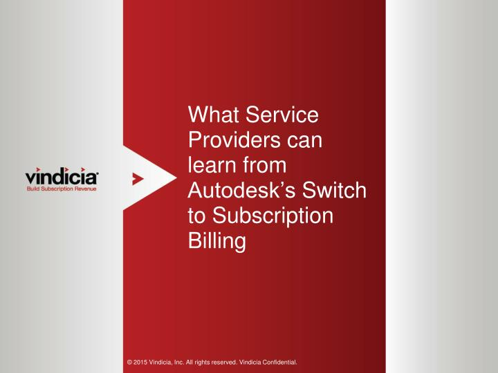 PPT - What Service Providers can learn from Autodesk's