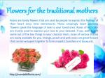 flowers for the traditional mothers