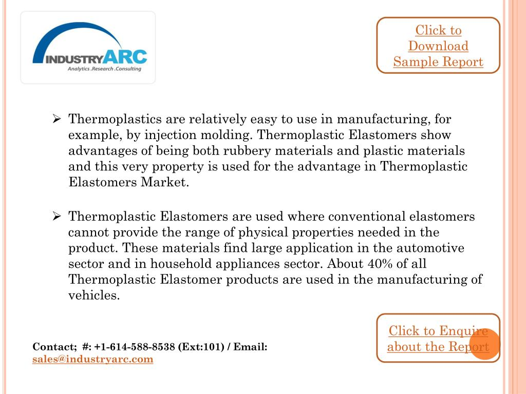 PPT - Thermoplastic Elastomers Market is an emerging market with the
