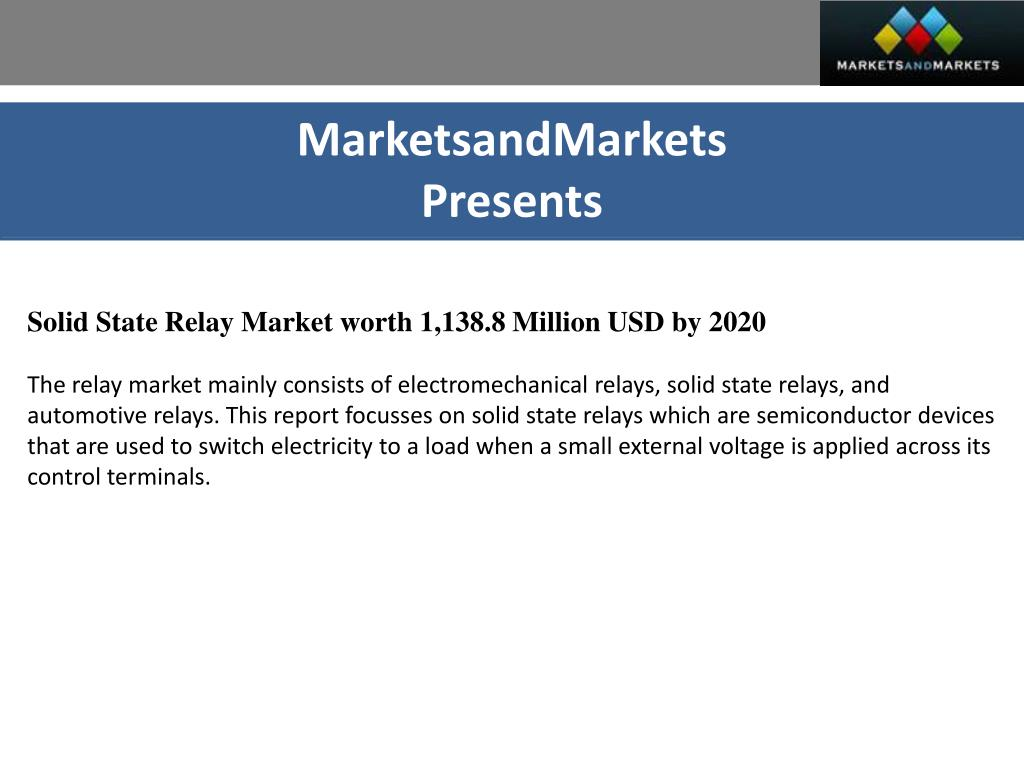 Ppt Solid State Relay Market By Mounting 2020 Voltage Marketsandmarkets Powerpoint Presentation Id7325445