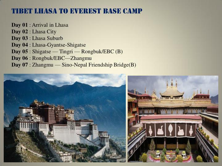TIBET LHASA TO EVEREST BASE CAMP