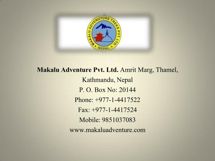 Makalu Adventure Pvt. Ltd.