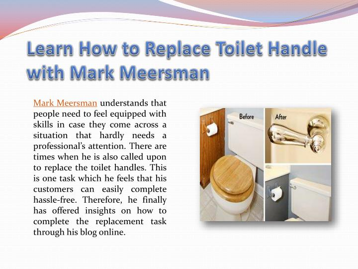 Learn How to Replace Toilet Handle with Mark