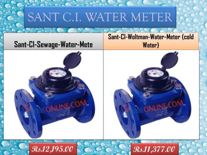SANT C.I. WATER METER