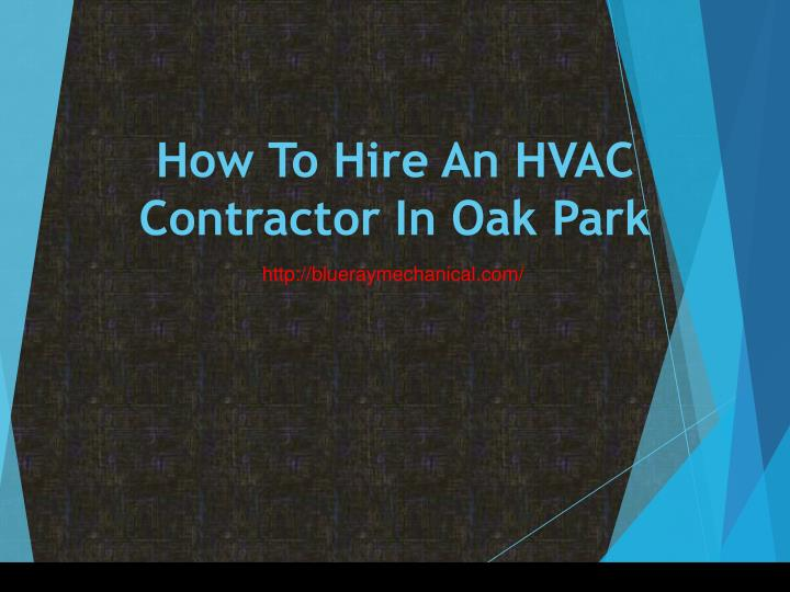 how to hire an hvac contractor in oak park n.