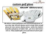 custom golf glove