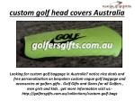 custom golf head covers australia