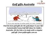 golf gifts australia