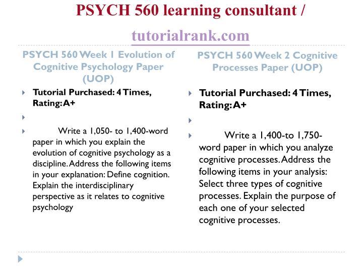 evolution of cognitive psychology paper