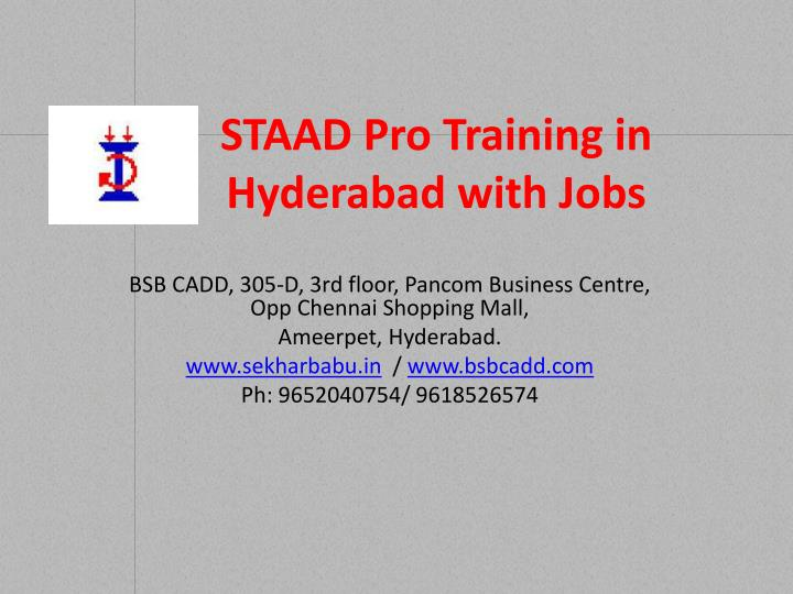 staad pro training in hyderabad with jobs