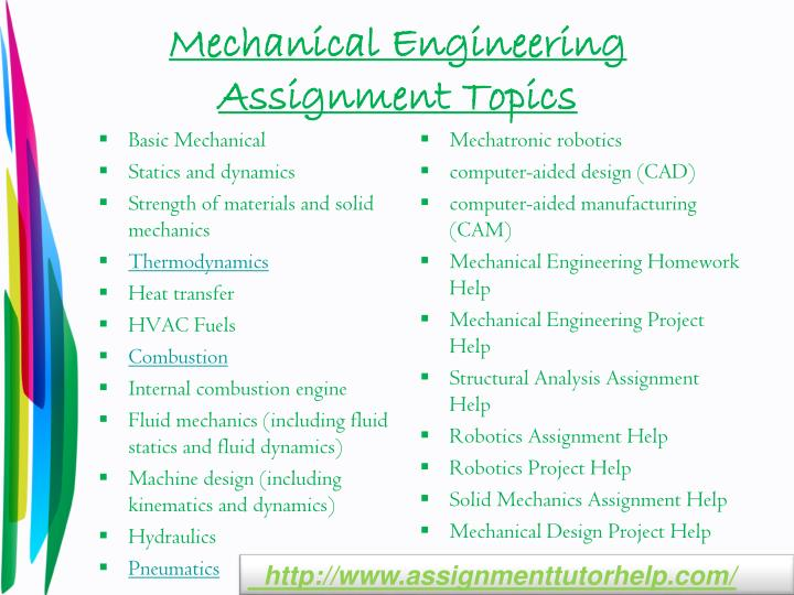 mechanical engineering essay what are some good topics for publishing a research paper in mechanical engineering
