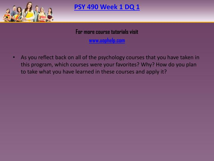 psy 490 week 4 pay it Flash cards for blw 2510 - business law 1 with galien at wayne state (wsu.