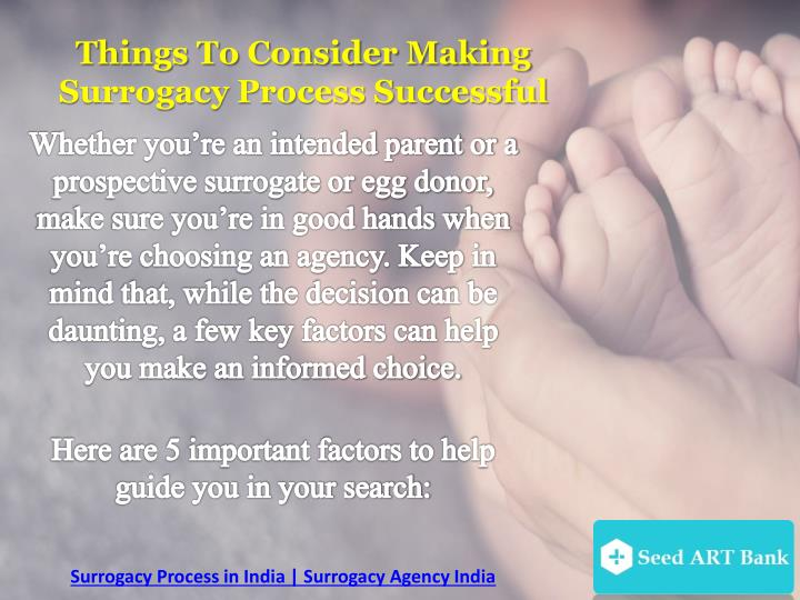 Things To Consider Making Surrogacy Process Successful