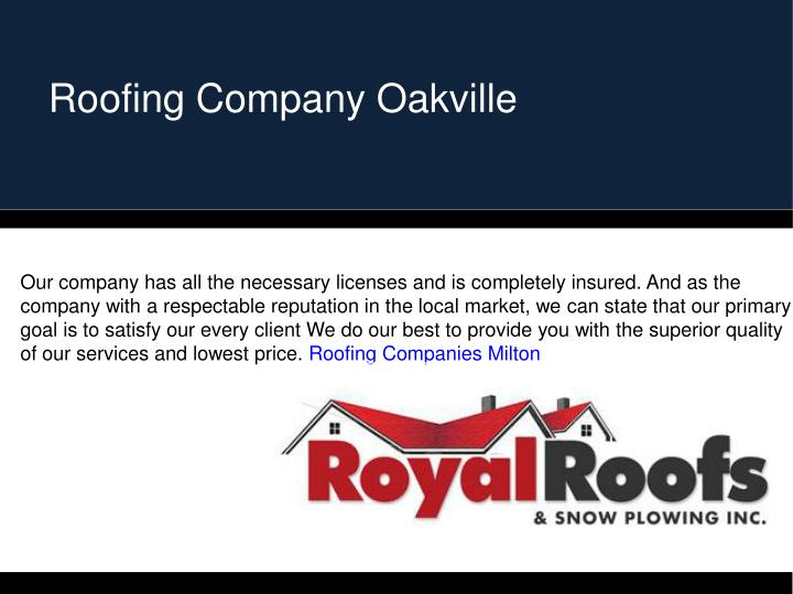 Roofing Company Oakville