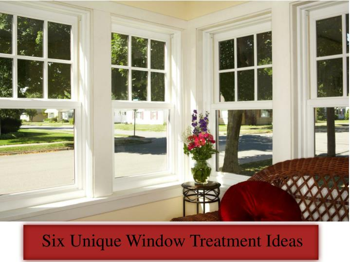 six unique window treatment ideas