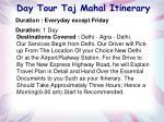 day tour taj mahal itinerary