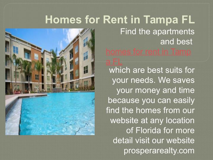 Homes for Rent in Tampa FL