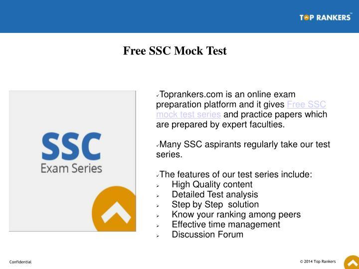 Free SSC Mock Test