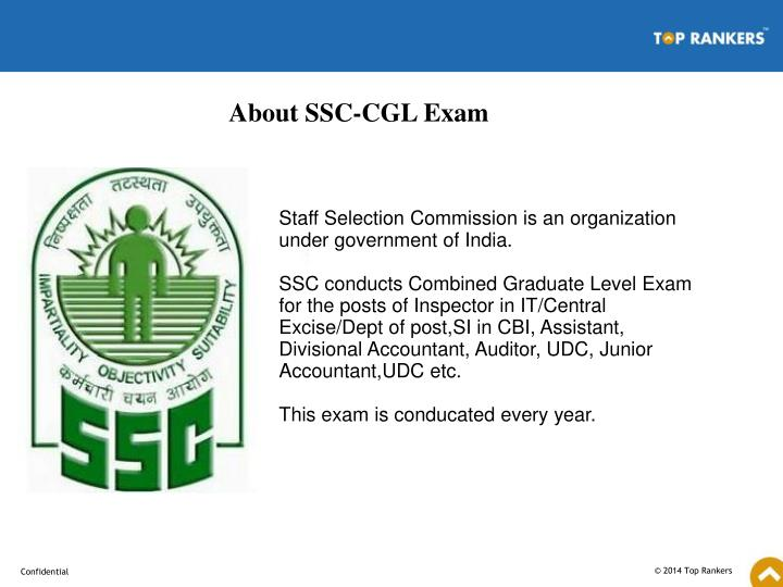 About SSC-CGL Exam