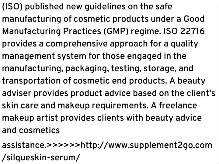 (ISO) published new guidelines on the safe