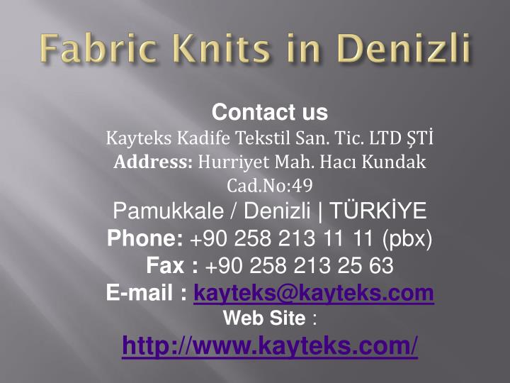 Fabric Knits in