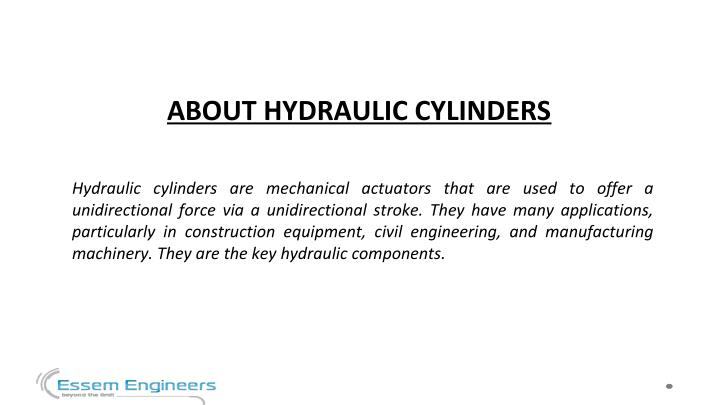 ABOUT HYDRAULIC CYLINDERS