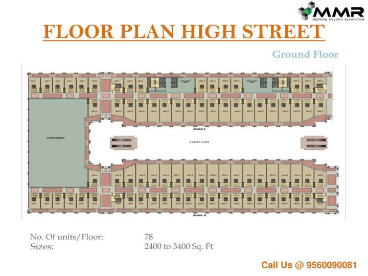 FLOOR PLAN HIGH STREET
