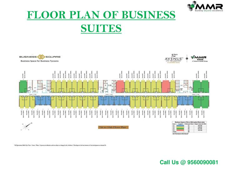 FLOOR PLAN OF BUSINESS SUITES