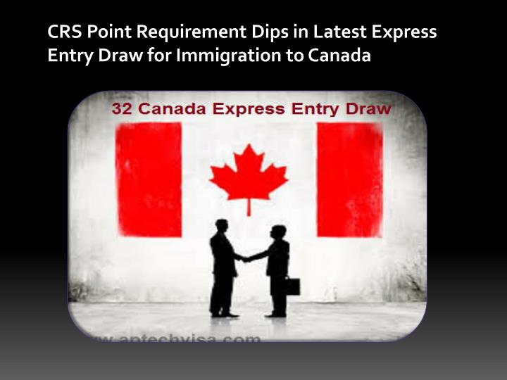 PPT - CRS Point Requirement Dips in Latest Express Entry