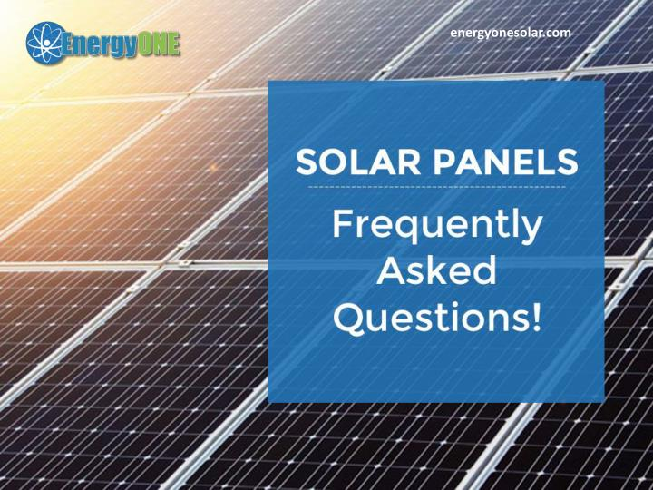 Ppt Frequently Asked Questions About Solar Energy In