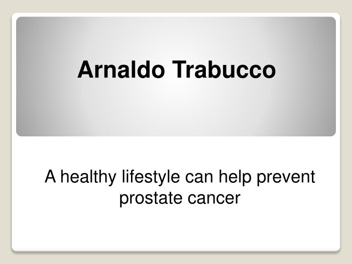 a healthy lifestyle can help prevent prostate cancer n.