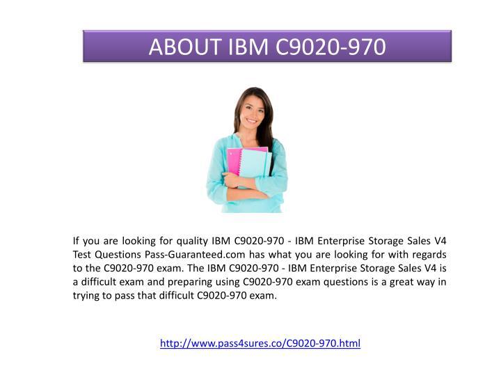 ABOUT IBM C9020-970