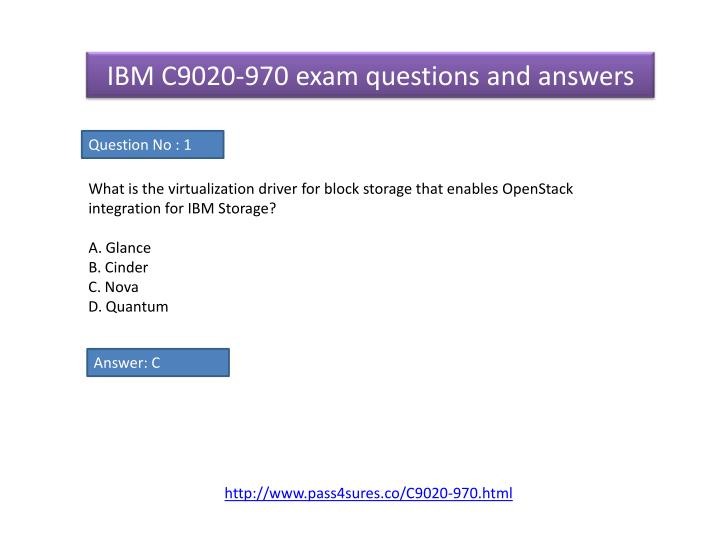 IBM C9020-970 exam questions and answers