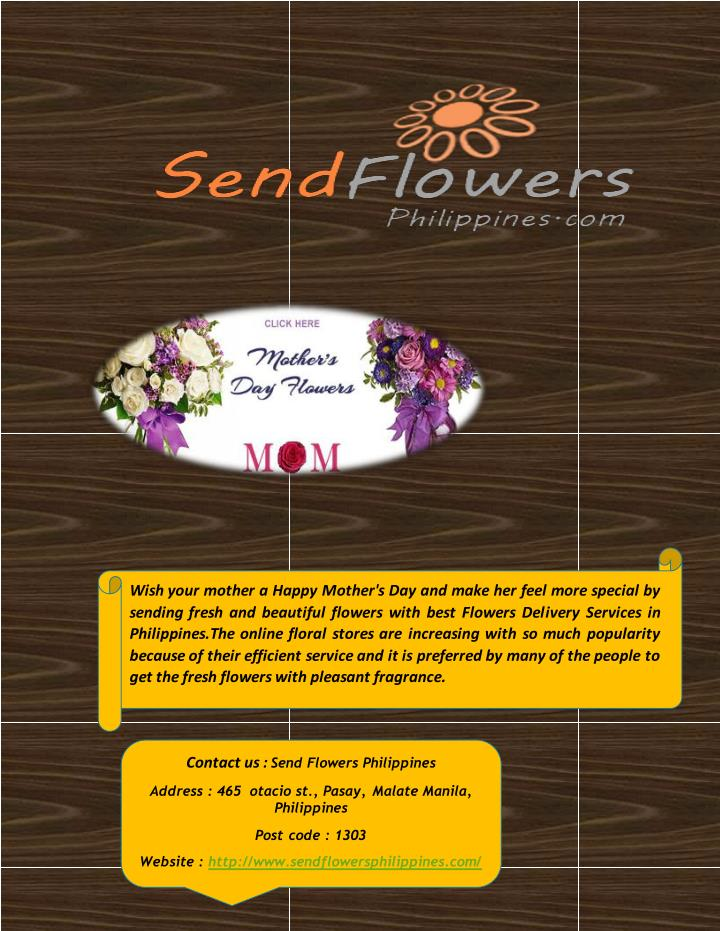 Wish your mother a Happy Mother's Day and make her feel more special by